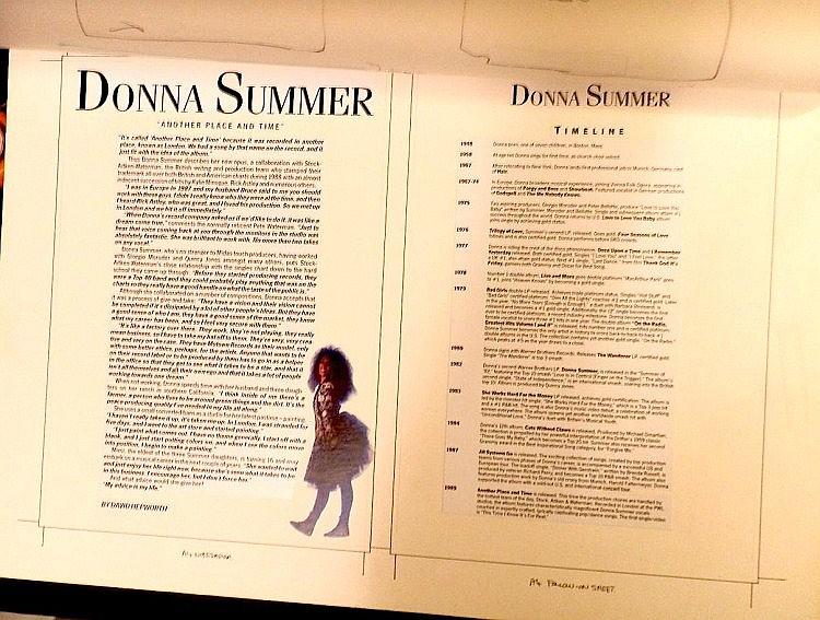 Donna Summer Original Production Artwork for a Press Folder