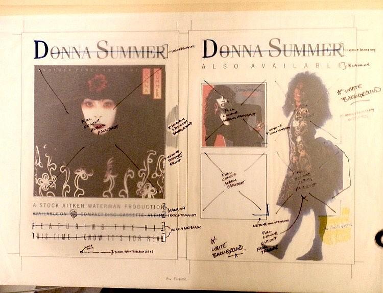 Donna Summer Original Production Artwork for an A4 Flyer