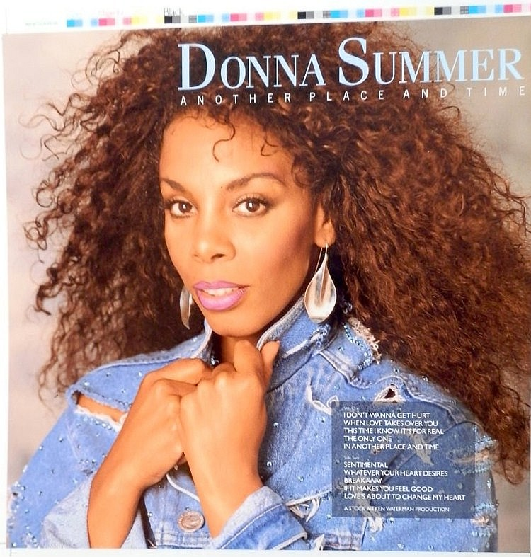 Donna Summer Another Place another time cromalin proofs for the album cover