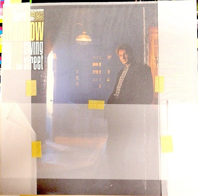 BARRY MANILOW AN ORIGINAL SEALED MASTER PROOF FOR SWING STREET
