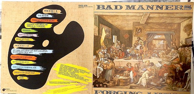 BAD MANNERS AN ORIGINAL PROOF FOR FORGING AHEAD ALBUM