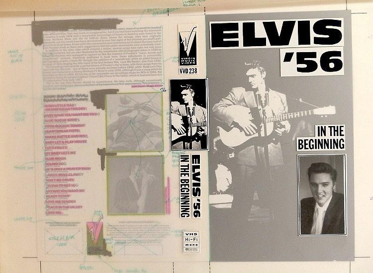Elvis Presley Original Production Artwork for In the Beginning