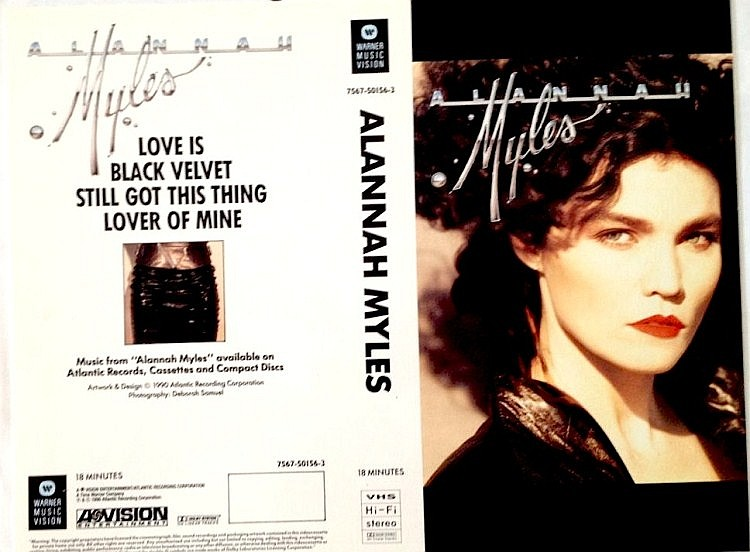 ALANNAH MYLES A RARE ORIGINAL PROOF FOR THE VHS EP