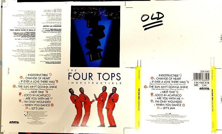 FOUR TOPS ORIGINAL CROMALIN PRROF FOR INDESTRUCTIBLE ALBUM