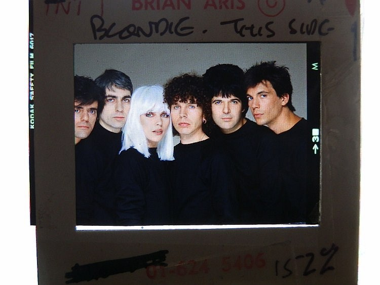 BLONDIE A large professional transparency
