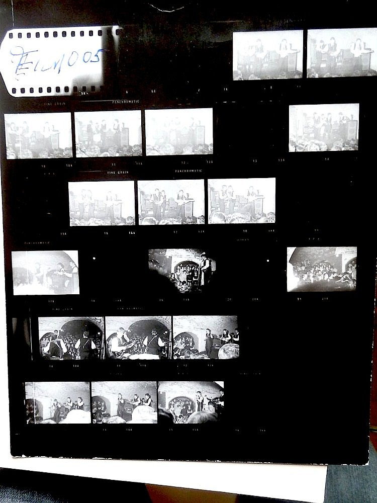 Beatles Rare contact sheets from the Cavern Used for Production of Mersey Beat Album Cover