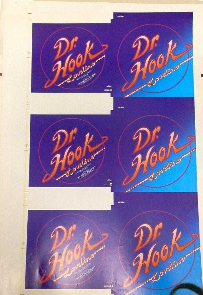 DR HOOK ORIGINAL PROOF FOR LOVELINE SINGLE MER104