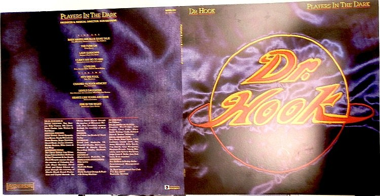 DR HOOK ORIGINAL PROOF FOR PLAYERS IN THE DARK ALBUM MERS 002