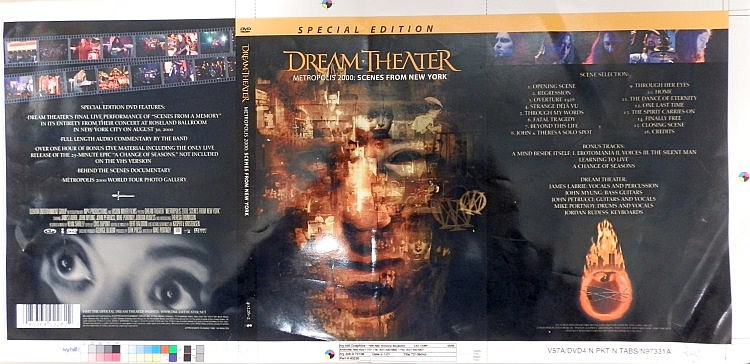 dream Theater Very Rare Original Proof for Metropilis 2000