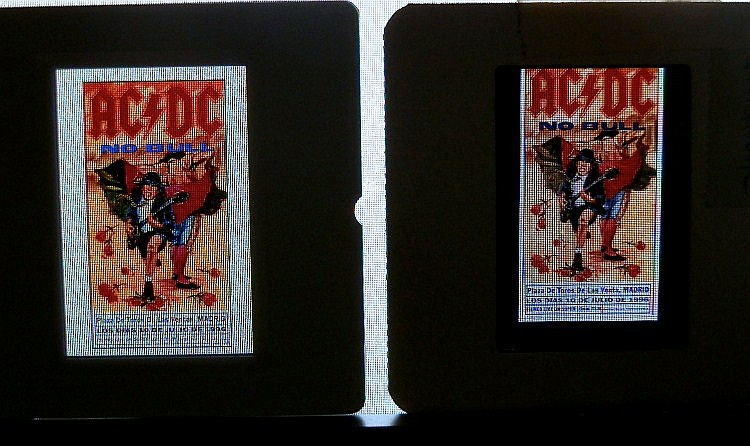 AC/DC 2 Professional transparencies for poster