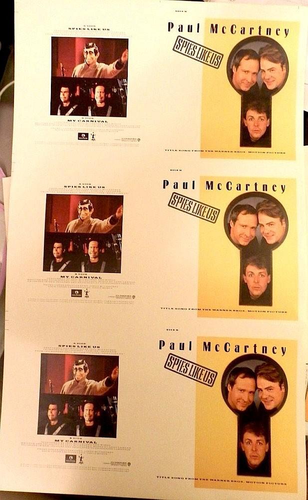 Beatles Paul McCartney three Original uncut Proofs for the 7