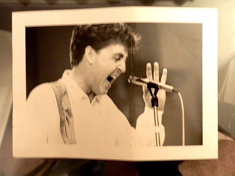Beatles Paul McCartney An unused b/w Photo from Spies Like US shoot