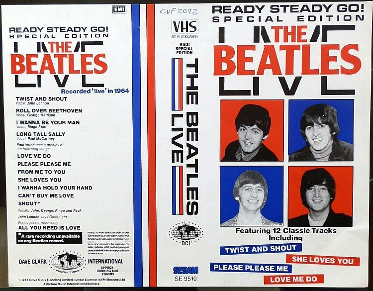 Beatles Proof cover for The Beatles Live VHS