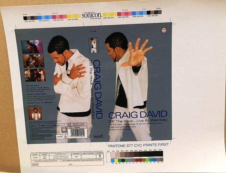 Craig David Proof for Off the Hook Live at Wembley