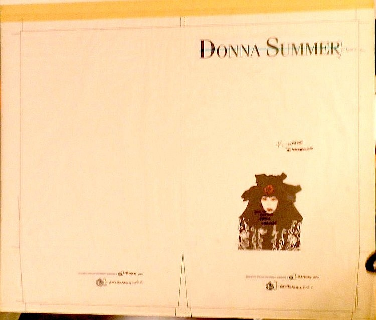 Donna Summer Original Production Artwork for the press folder Biography