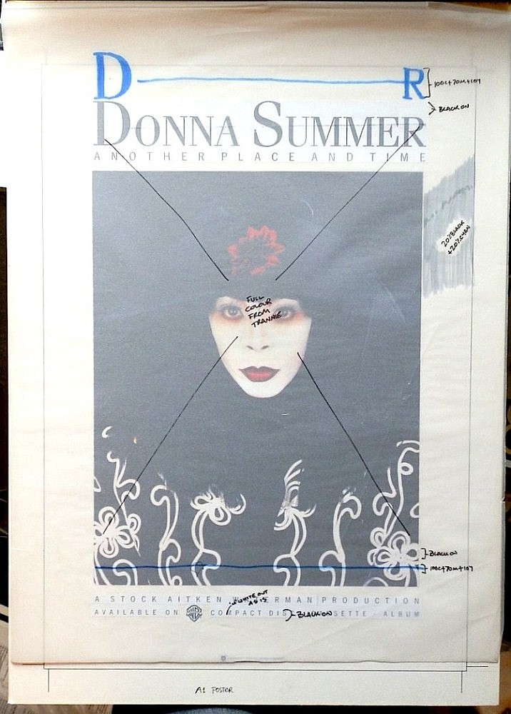Donna Summer Original Production Artwork for Another Place another time Poster