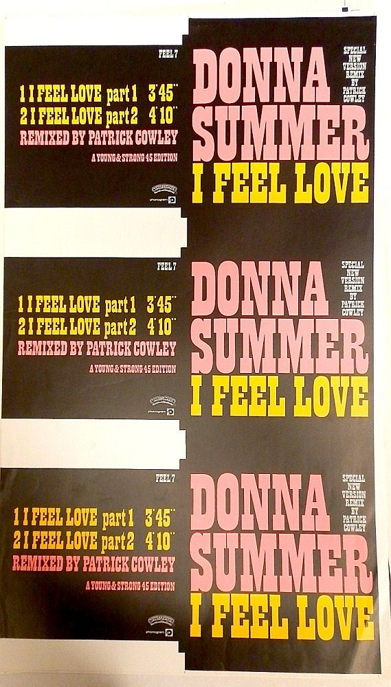 DONNA SUMMER ORIGINAL PROOF SHEET FOR I FEEL LOVE 7
