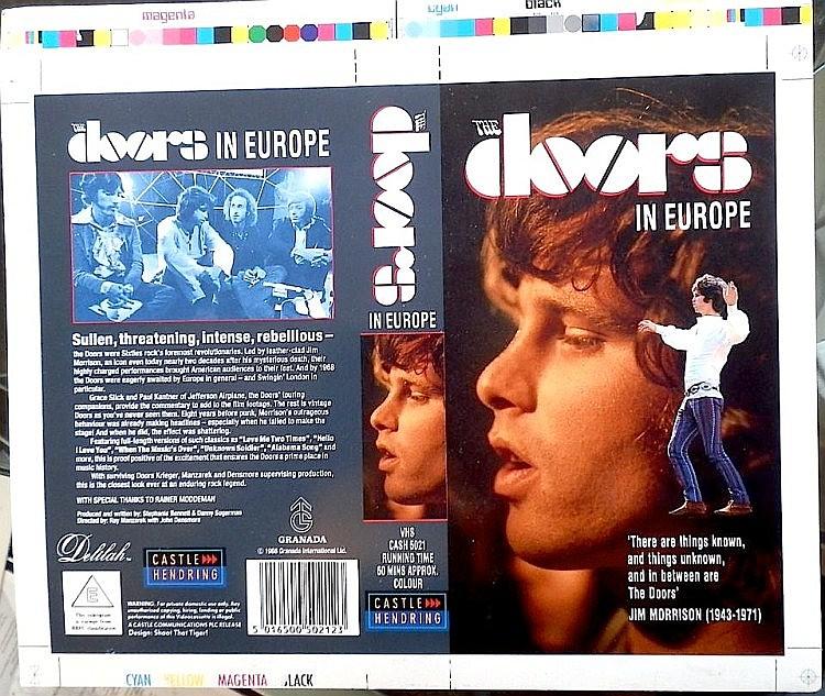 Doors an Original Cromalin Proof for The Doors In Europe