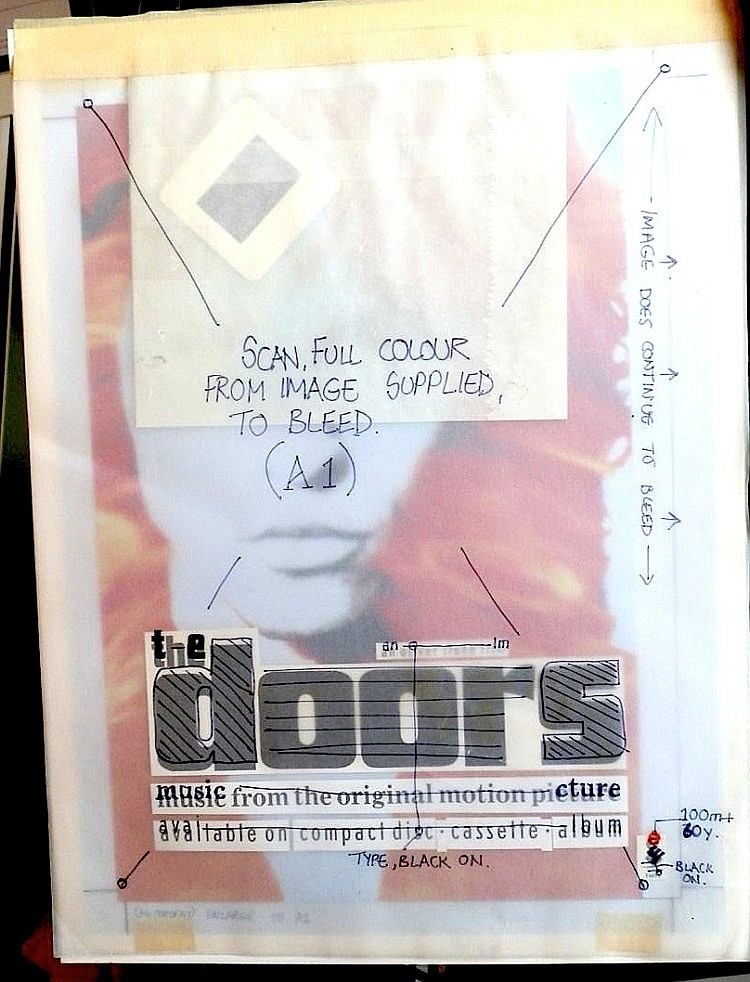 Doors Original Production Artwork for The Doors An Oliver Stone Film