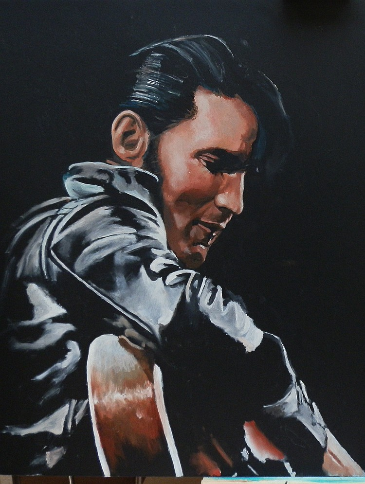 ELVIS PRESLEY ORIGINAL SIGNED PRINT BY JAMES WILKINSON