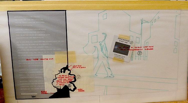 BOWIE ORIGINAL PRODUCTION ARTWORK FOR LOVING THE ALIEN 7