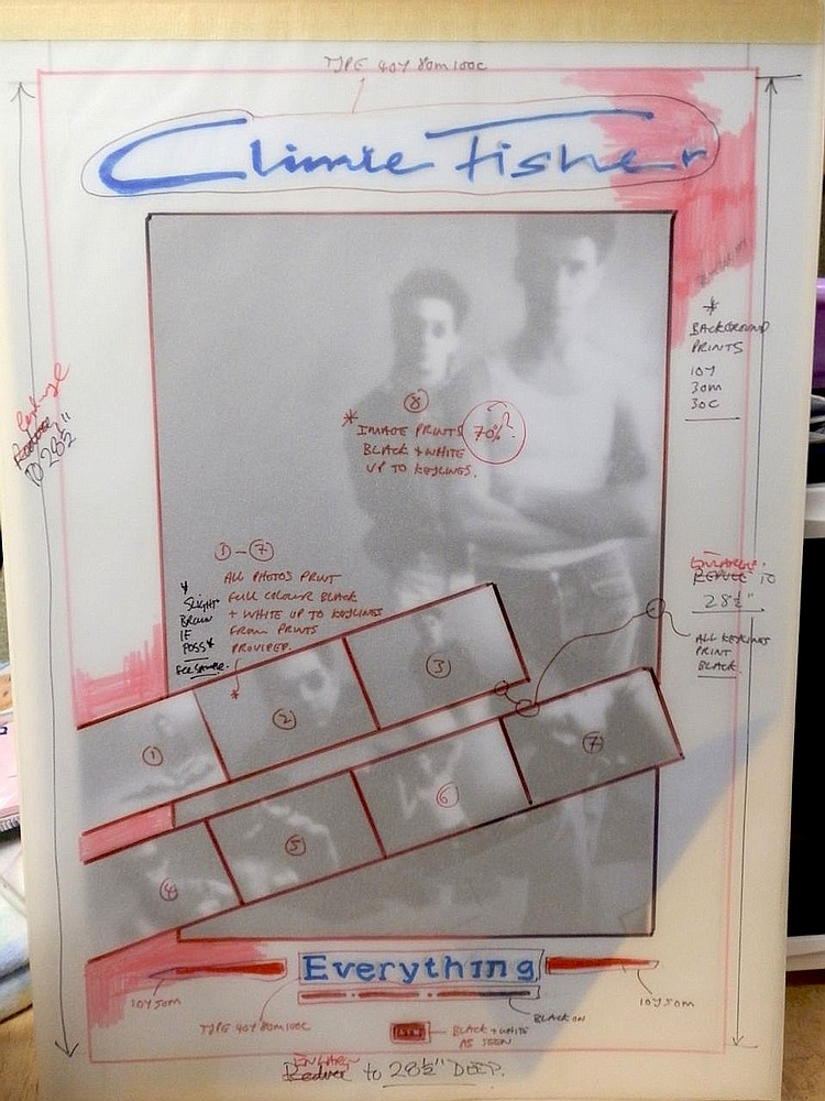 CLIMIE FISHER ORIGINAL PRODUCTION ARTWORK FOR EVERYTHING ADVERTISEMENT