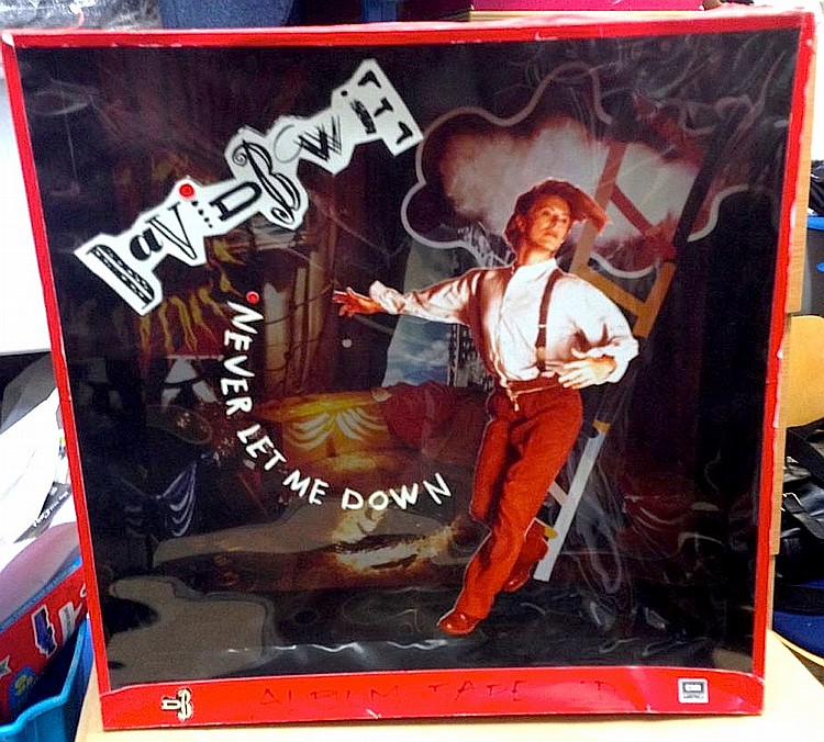 DAVID BOWIE ORIGINAL MOCK UP FOR IN STORE 3D DISPLAY