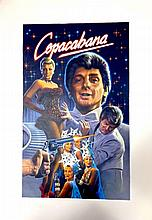 BARRY MANILOW COPACABANA THE ORIGINAL PAINTED ARTWORK