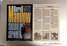 BARRY MANILOW ORIGINAL PRODUCTION ARTWORK FOR SWING STREET POSTER