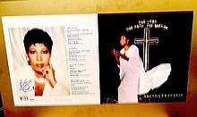 Aretha Franklin Original Proof and signed photo display
