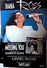 DIANA ROSS ORIGINAL POSTER FOR MISSING YOU
