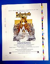DAVID BOWIE LABYRINTH ORIGINAL PROOF POSTER