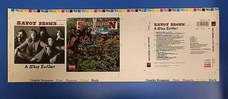 Savoy Brown original DERAM Cromalin proof - A Step Further.