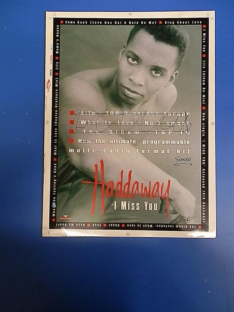 Haddaway original Cromalin proof for an advertisement - I miss you.