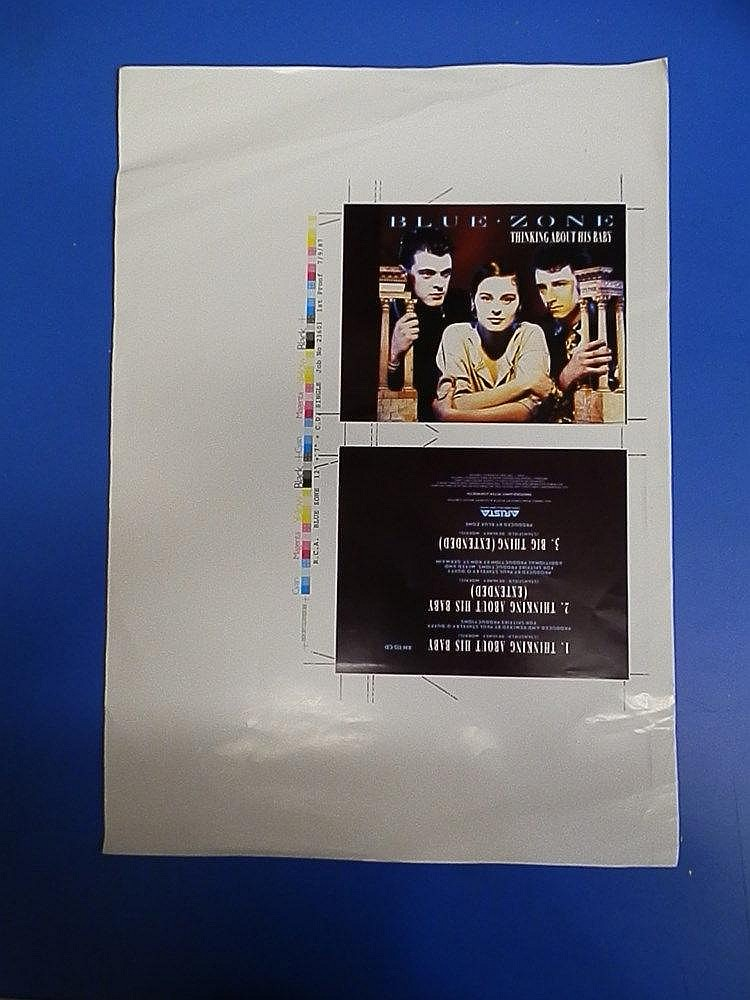 LISA STANSFIELD Blue Zone original 1st proof for - Thinking about his baby.
