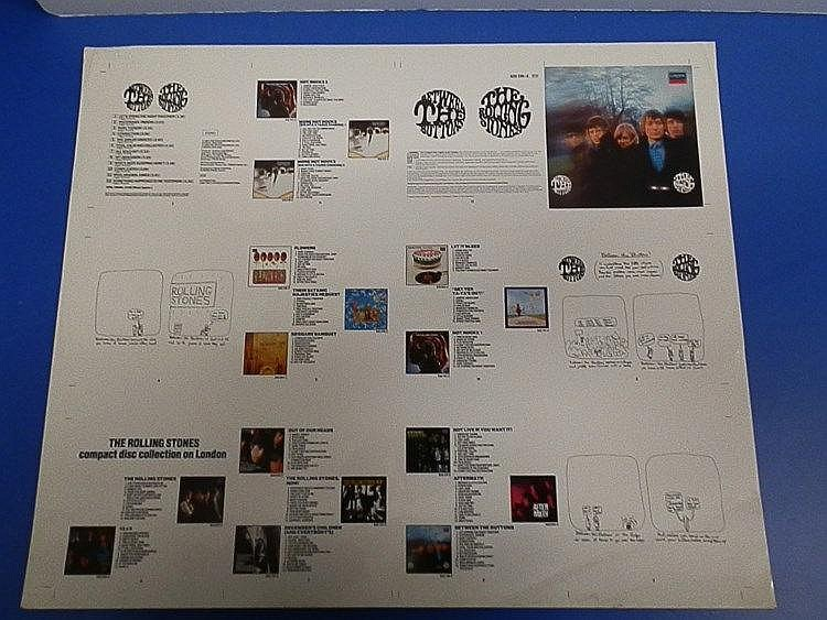 Rolling Stones original Cromalin proof for - Between the Buttons