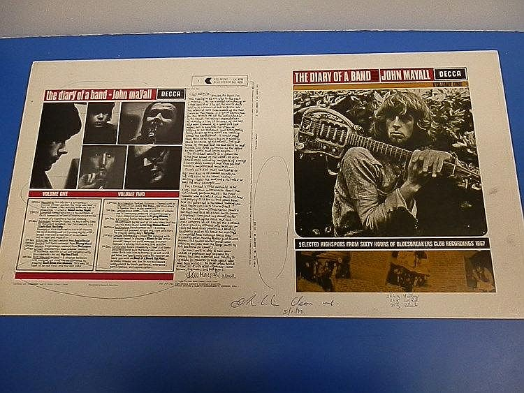 John Mayall original DECCA proof from 1979 for - the diary of a band