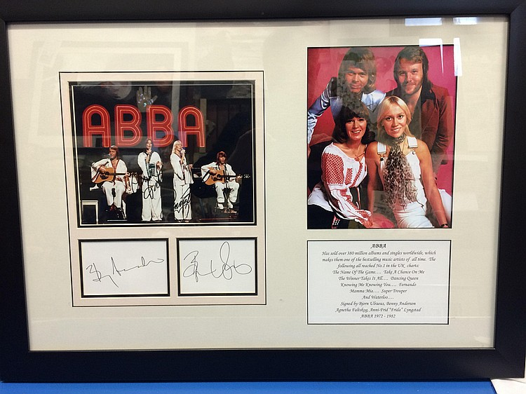 ABBA signed display