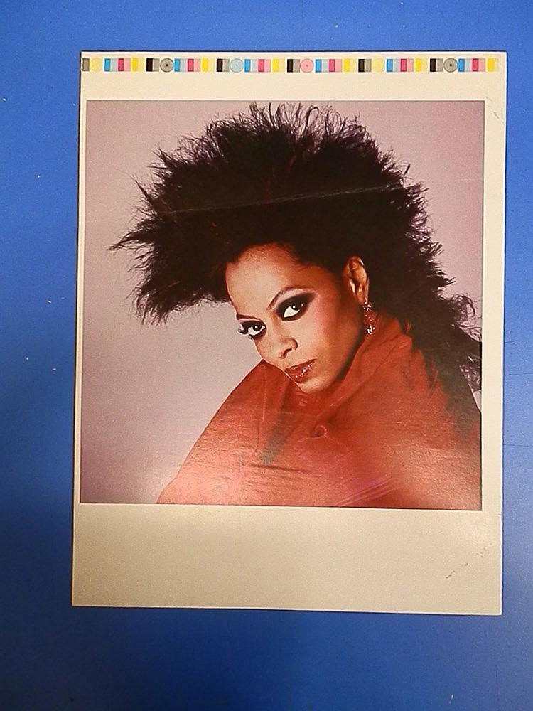 Diana Ross original proof for a key photograph.