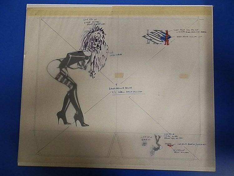 LITA FORD Original production artwork for Lita Ford press folder.