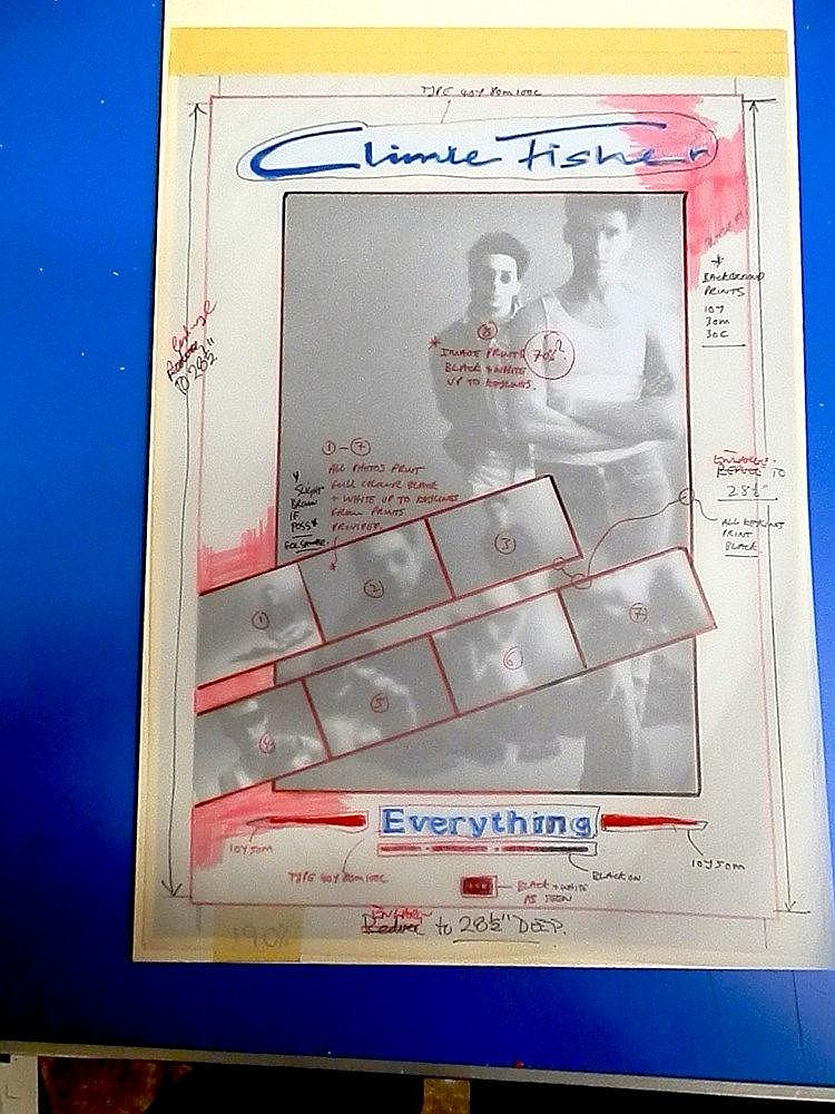 CLIMIE FISHER Original production artwork for a poster - Climie Fisher - Everything.