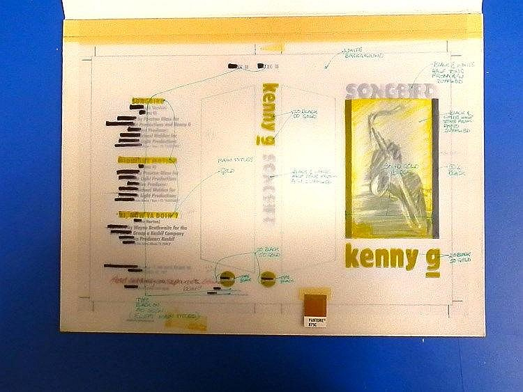 KENNY G Original production artwork for a cassette single - Kenny G - Songbird