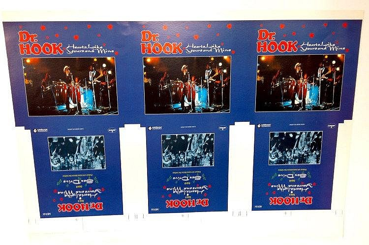Dr. Hook original Cromalin proof for - Hearts like yours and mine.
