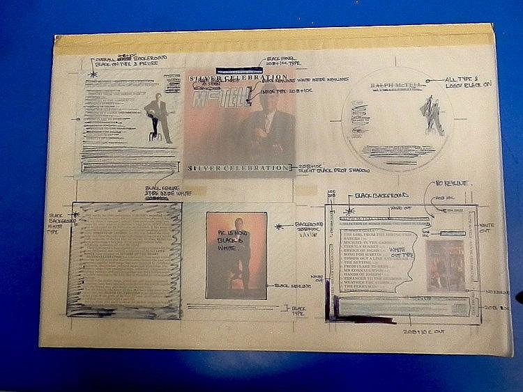 RALPH MCTELL Original production artwork for- Ralph McTell - Silver Celebration.