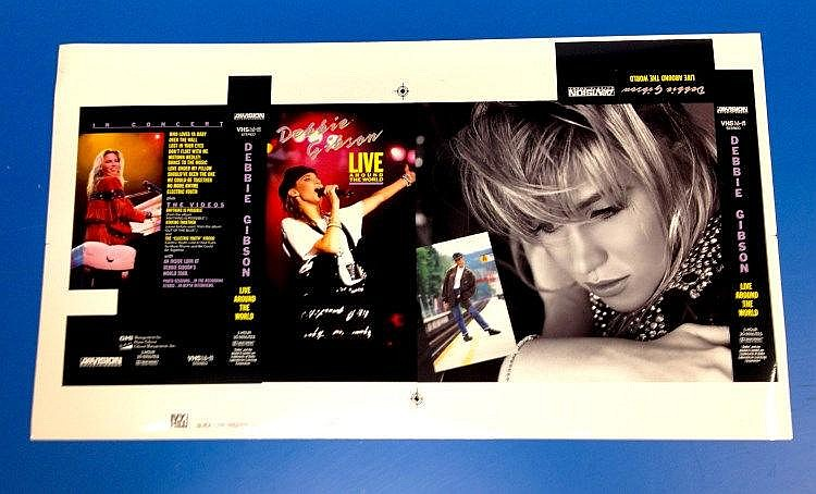 Debbie Gibson original Cromalin proof for - Live Around the World