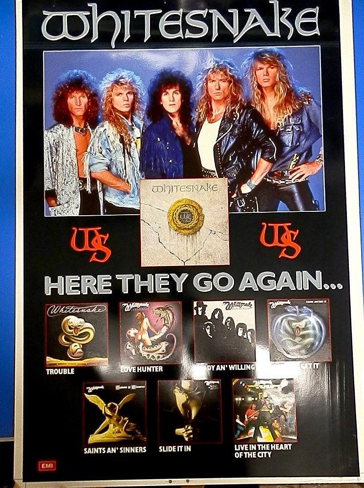 Whitesnake original Cromalin proof for - Here they go again