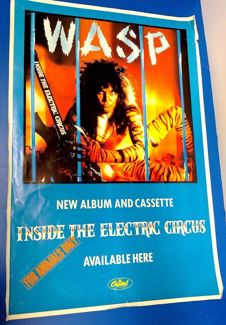 W.A.S.P colour poster - for ?Inside the Electric Circus