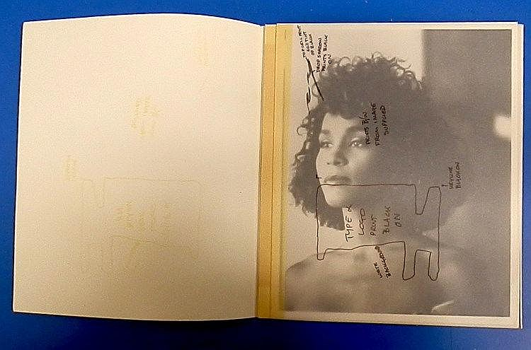 WHITNEY HOUSTON Original production artwork for Smash Hits ad - Whitney Houston.