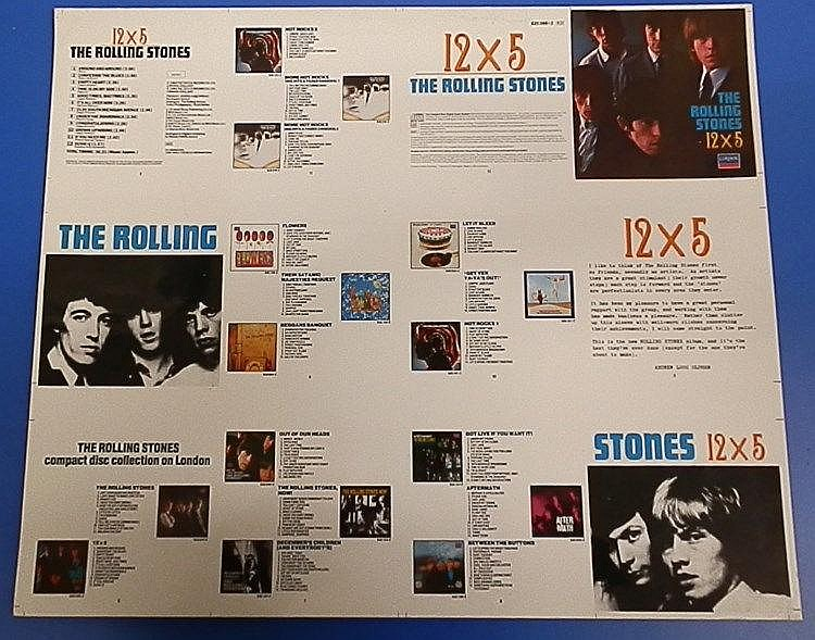 Rolling Stones an original Cromalin proof for - 12 X 5