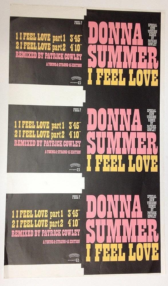 Donna Summer rare uncut single proofs - I Feel Love